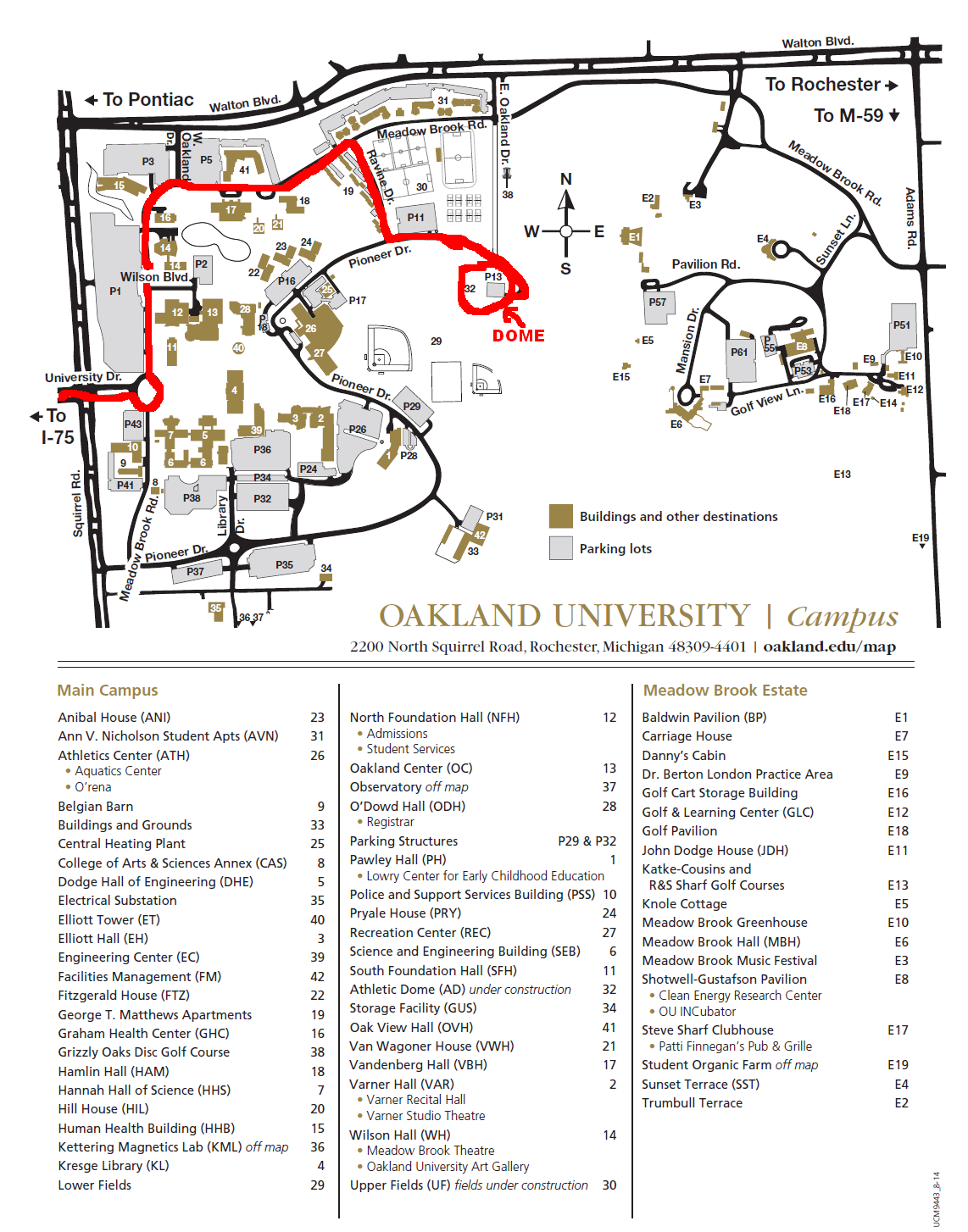 league club directory - oakland university dome  pioneer drive rochester mi  view map